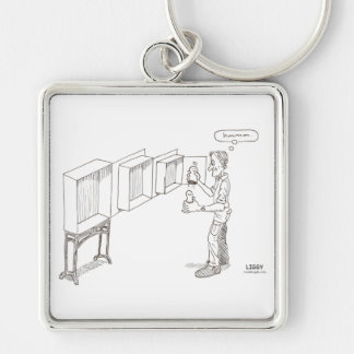 Russian Doll Cartoon Premium Square Keychain