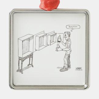Russian Doll Cartoon Premium Square Ornament