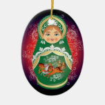 "Russian Doll Christmas Ornament - ""Olga"""