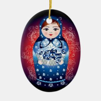 "Russian Doll Christmas Ornament - ""Petra"""