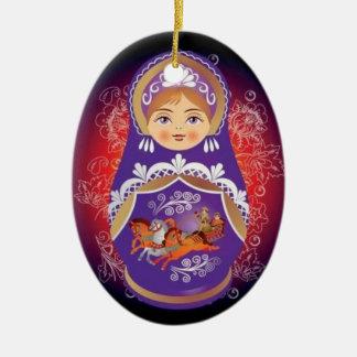 """Russian Doll Christmas Ornament - """"Yulia"""""""