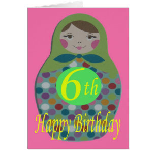 Russian doll happy birthday cards greeting photo cards zazzle russian doll happy 6th birthday card m4hsunfo