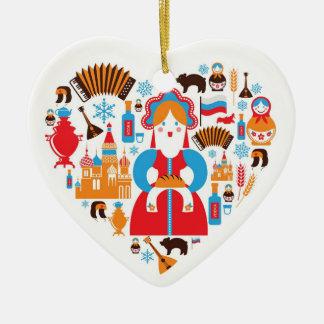 Russian Doll Heart Christmas Ornament - Cultural
