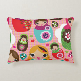 Russian doll illustration background decorative pillow