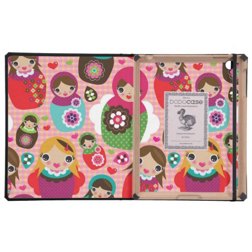 Russian doll illustration background iPad cover