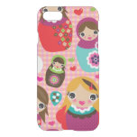 Russian doll illustration background iPhone 7 case
