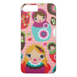 Russian doll illustration background iPhone 7 plus case