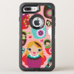 Russian doll illustration background OtterBox defender iPhone 7 plus case
