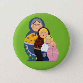 Russian Doll Matryoshka Life Stages Colorful Cute Pinback Button