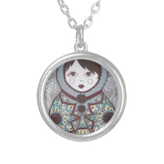 Russian Doll Round Pendant Necklace