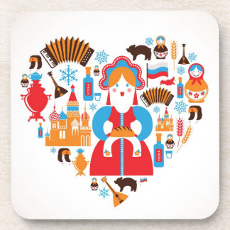Russian Doll / Russian Folk Art Coasters