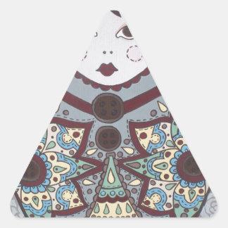 Russian Doll Triangle Sticker