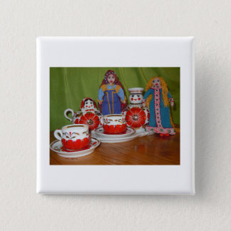 Russian Doll Tea Time Button