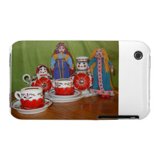 Russian Doll Tea Time iPhone 3 Cases