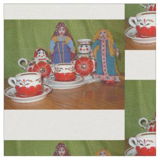Russian Doll Tea Time Fabric