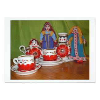 Russian Doll Tea Time Invites