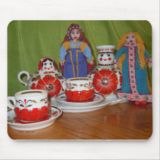 Russian Doll Tea Time Mouse Pad