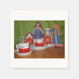 Russian Doll Tea Time Paper Napkins