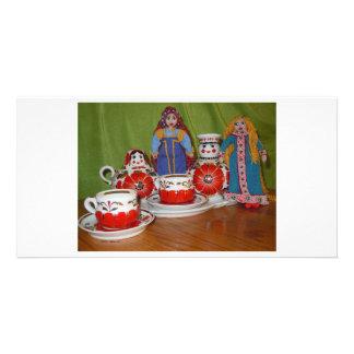 Russian Doll Tea Time Photo Card