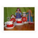 Russian Doll Tea Time Postcard