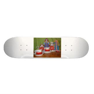 Russian Doll Tea Time Custom Skate Board