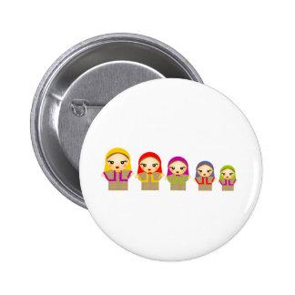 Russian Dolls 2 Inch Round Button