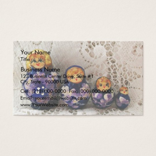 Russian dolls business card