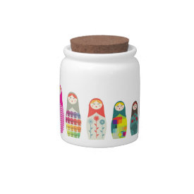 Russian Dolls Cute Jar v2 Candy Dishes at Zazzle