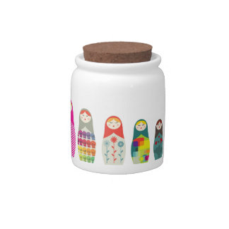 Russian Dolls Cute Jar v2 Candy Jar
