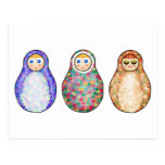 Russian dolls post cards