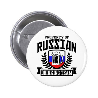 Russian Drinking Team Pinback Button