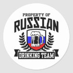 Russian Drinking Team Classic Round Sticker