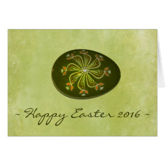 Russian Easter Egg Happy Easter 2016 Card