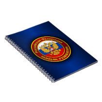Russian Emblem Spiral Notebook