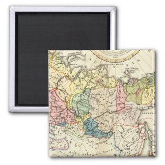 Russian Empire Ethnography 2 Inch Square Magnet