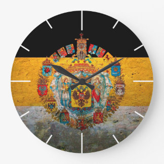 Russian Empire Flag Large Clock