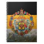 Russian Empire Flag Spiral Notebook