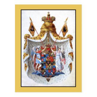 Russian Empire, Full coat of arms Postcard