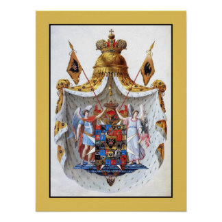 Russian Empire, Full coat of arms Posters