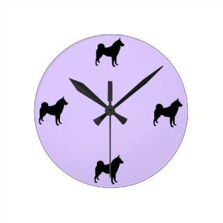Russian-European Laika Round Clock
