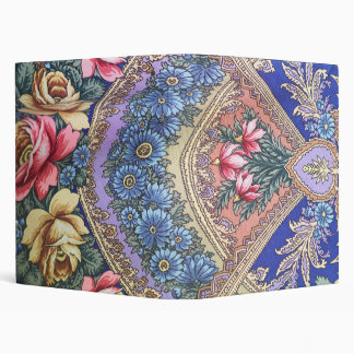 Russian fabric pattern 3 ring binder