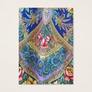 Russian fabric pattern business card
