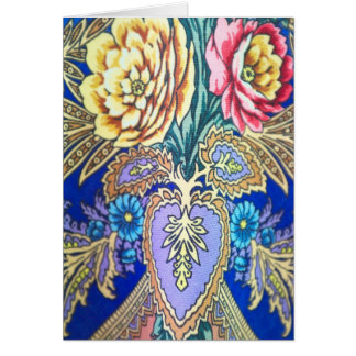 Russian fabric pattern card