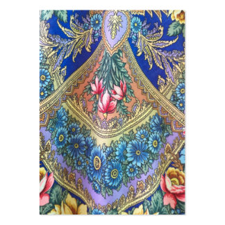 Russian fabric pattern large business card