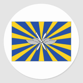 Russian Federation Air Force Flag Round Stickers