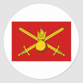 Russian Federation Army Flag Classic Round Sticker