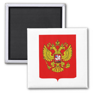 Russian Federation Coat of Arms 2 Inch Square Magnet