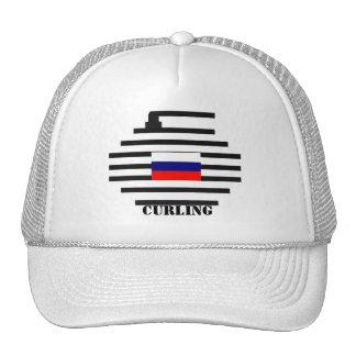 Russian Federation Curling Trucker Hat