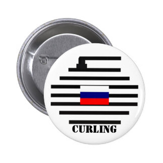 Russian Federation Curling Pinback Button