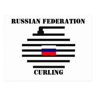 Russian Federation Curling Postcard